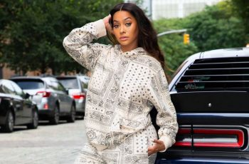 La La Anthony Turns Up The Heat As She Displays Her Hourglass Curves In Skinny Jeans And Sleeveless Top