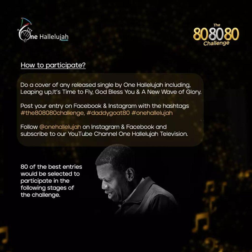 RCCG One Hallelujah Records presents The 80 80 80 Challenge